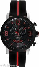 Tommy Bahama RELAX Men's Beach Cruiser Black Dial Rubber Strap Watch RLX1221