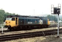 PHOTO  CLASS 50 LOCO NO 50046 AT EXETER 1991