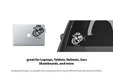 4 x Marines logo Vinyl Decal Sticker Laptop, Tablet, Truck Window
