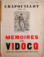 LE CRAPOUILLOT, septembre 1934 - MEMOIRES DE VIDOCQ