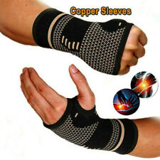 Copper Wrist Hand Brace Support Fit Carpal Tunnel Splint Strap Sprain Arthritis