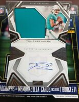 TUA TAGOVAILOA 2020 PLAYBOOK BOOKLET RC JUMBO PATCH JERSEY AUTO 56/149