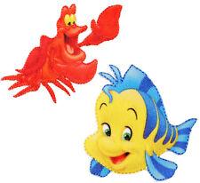 """2 tlg. Set: Bügelbilder - """" Disney - Arielle die Meerjungfrau / Krabbe Sebastian"""