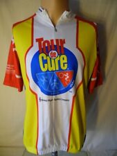 Sugoi Vintage Tour De Cure Bike Bicycle Racing Jersey Yellow Large Canada Made