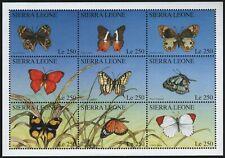 Sierra Leone 1996 - Mi-Nr. 2640-2648 ** - MNH - Schmetterlinge / Butterfly