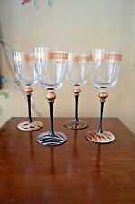 "New Set Of ""4"" Wine Glasses - Safari Theme - Signed - Great Collection!"