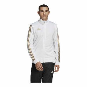 adidas Men's Tiro Metallic Track Jacket: White/Gold - FQ2068