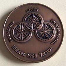 ISRAEL BRONZE MEDAL,17th INTERNATIONAL STOKE-MANDEVILLE GAMES.45 MM,40 GRAMS.