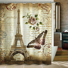 Eiffel Tower Paris Shower Curtain - Bathroom Decor Accessory Accent NEW French