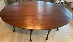 RARE! Antique Irish Queen Anne Mahogany Drop-Leaf Dining/Sofa Hunt/Wake Table