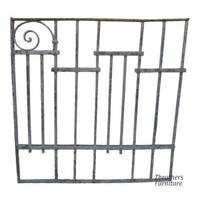 Antique Victorian Iron Gate Window Garden Fence Architectural Salvage Door #054