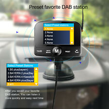 CAR DAB Radio with FM Transmitter + Answer Mobile Phone Hand Free While Driving