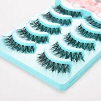 5 PAIRS False Lashes DEMI WISPIES Fake Eyelashes Natural Long MakeUp Eye Lash Vv