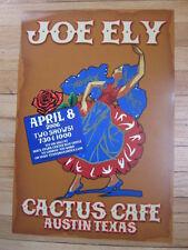 Joe Ely Austin concert poster 13x19 2006 Cactus Cafe