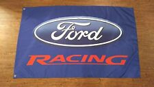 BLUE FORD RACING FLAG BANNER 3X5FT F150 F SERIES TRITON MUSTANG TAURUS SHO GT500