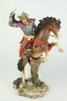 VERONESE 2006 Samurai Warrior & Horse Hand Painted Resin Figurine Sculpture