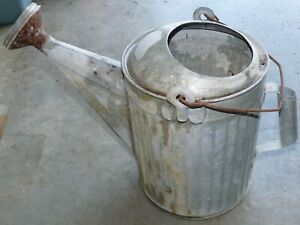 """Vintage Galvanized 12"""" Watering Can With Sprinkler Head Unbranded"""