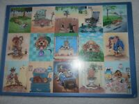 GIBSONS 1000 Piece Jigsaw Puzzle FOUR LEGGED FRIENDS - 1 Piece Missing