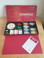 MONOPOLY DELUXE Property trading Board Game Complete vintage 1970s
