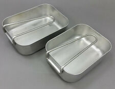 GENUINE 2piece MILITARY MESS TINS KIT STAINLESS STEEL DUTCH ARMY CAMPING COOKER