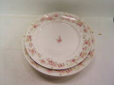CH Field Haviland Limoges GDA France  6 plates white plate with pink flowers