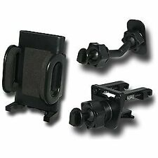 Verizon Universal Cell Phone Vent & Adhesive Car Mount Holder Combo - Black