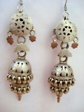 earrings dangle belly dance jewelry ind vintage antique ethnic tribal old silver