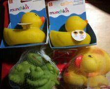 2 Munchkin White Hot Safety Bath Duck Yellow Rubber Ducky Bonus 6 Tub Toys Frogs