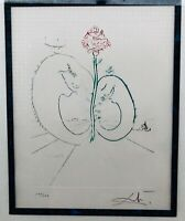 Salvador Dali Farb-Radierung handsigniert nummeriert 55x62 Yin&Yang Bütten 1978