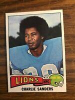 1975 Topps #445 Charlie Sanders  Detroit Lions  NrMt