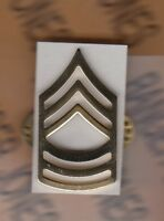 US ARMY Enlisted MSG MASTER SERGEANT E-8 dress rank clutchback badge single