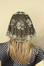 Gold Black Princess heart Spanish veils and mantilla Catholic chapel lace Latin