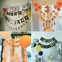 Happy Birthday Bunting Banner Flag Garland Party Decor For Baby Pull Flag G8B9