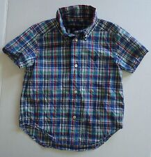 Boys 2T Ralph Lauren Blue Plaid Shirt - Current Tag Style