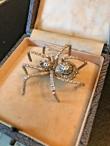 Antique Victorian Silver Spider Brooch