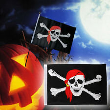 1Pc Large Skull Crossbones Pirate Flag Jolly Roger Hanging With Grommet NO Pole