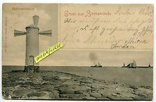 Postkarte um 1900 :  Gruß aus Swienemünde , Hafeneinfahrt