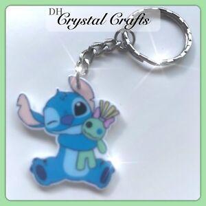 Disney Lilo And Stitch Theme Handmade Keyring Bag Charm  Gift #49