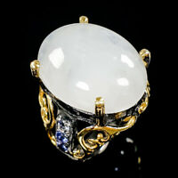 Unique Fine Art Natural Moonstone 925 Sterling Silver Ring Size 6/R83439