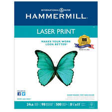 Hammermill Laser Print Paper, Letter, White, 24lb, 98-Bright, 500 sheets