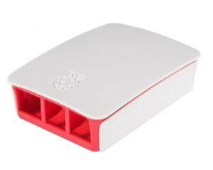 Raspberry Pi 3 B + Gehäuse Case Weiß Rot Himbeer Offiziell
