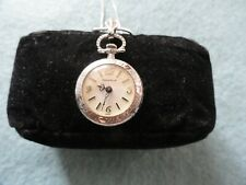 Up Necklace Pendant Watch Vintage Caravelle Mechanical Wind