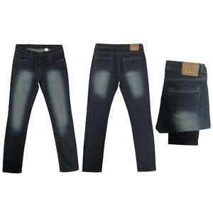 Kids Boys Skinny Fit Jeans  Designer Denim Stretchy Pants New Trouser Age 5-14