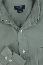 Brooks Sport da Uomo Verde Salvia Micro a Scacchi Cotone Camicia Casual M MEDIA