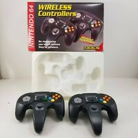 Docs for Nintendo N64 Two Wireless Controllers (NO RECEIVER) Tested w/ Box
