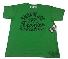 Roots Of Fight Smokin Joe Frazier Green T-Shirt Philly Boxing Size Small-2XL