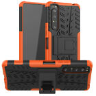 Shockproof Rugged Rubber Hybrid Armor Kickstand Case Cover For Sony Xperia 1 II
