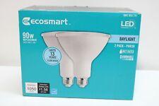 EcoSmart 2 Pack 90W Daylight PAR38 Dimmable LED Flood Light Bulbs