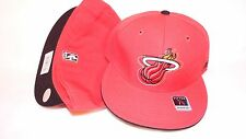 NEW HAT CAP FITTED REEBOK NBA MIAMI HEAT SIZE 7 1/4 RED