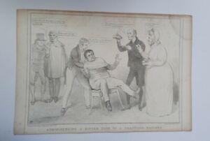 Original 1833 John Doyle (HB) Print - N0.244 (Daniel O'Connell & Wellington)